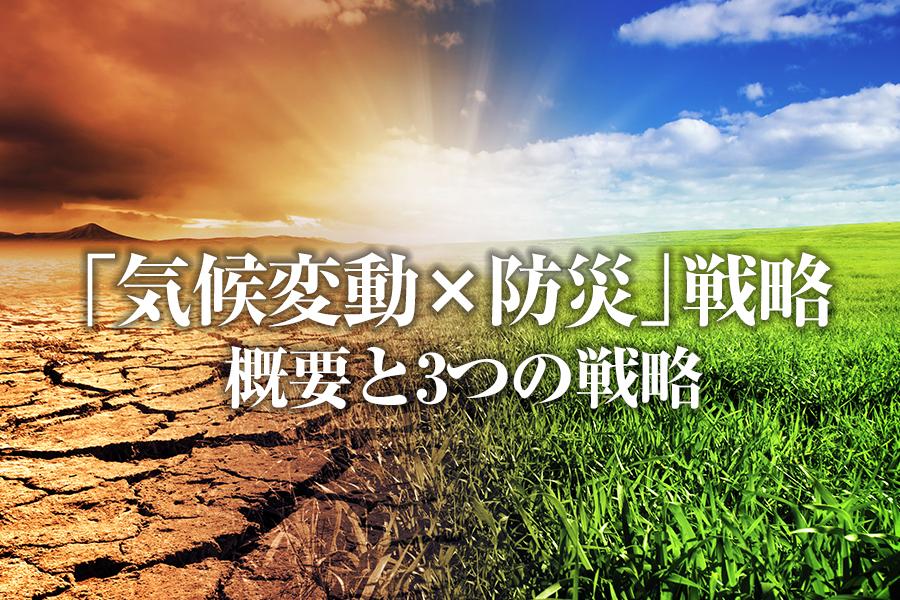 「気候変動×防災」戦略とは?その概要と3つの戦略を解説します