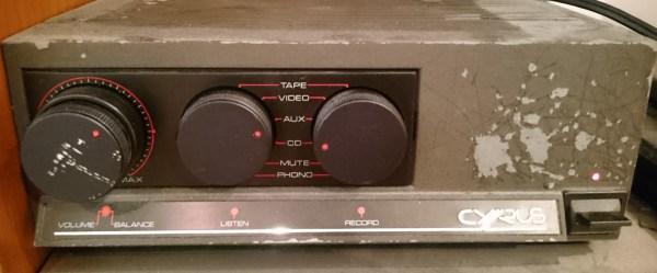 昔のオーディオ機器CyrusをBluetooth無線対応にする