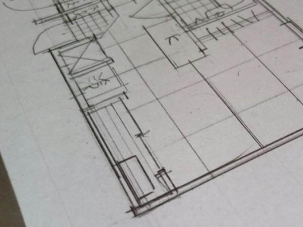 1k賃貸アパートの設計開始?