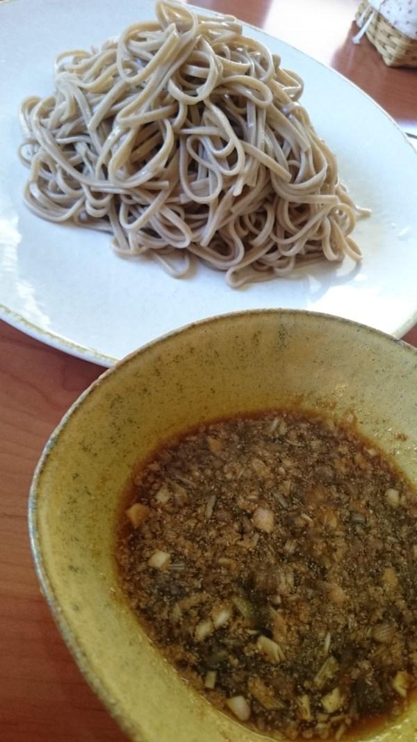 Cookpadのレシピコンテスト参加:梅とみょうがの旨いつけダレで蕎麦を食う!