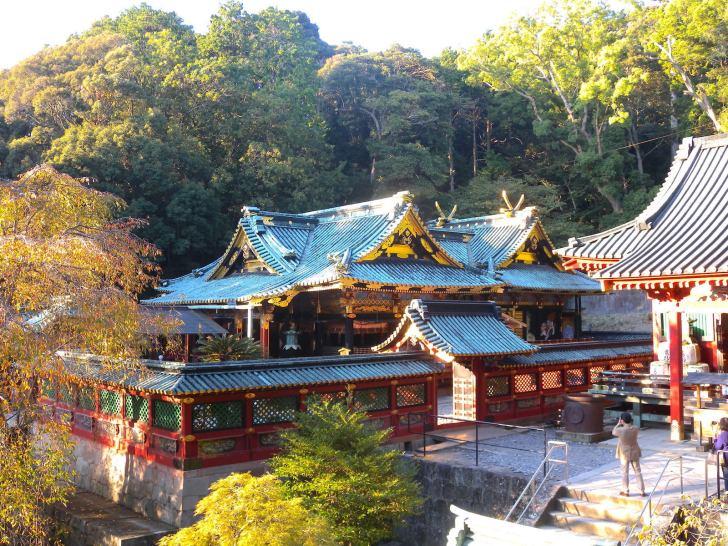久能山東照宮・国宝社殿(拝殿・石の間・本殿)