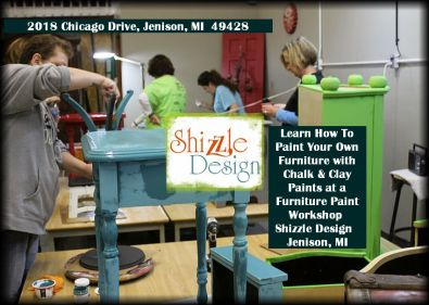 Learn how to layer chalk clay paint colors DIY ideas inspiration Shizzle Design painted furniture makeovers workshops best class Jenison Michigan American Paint Company 2
