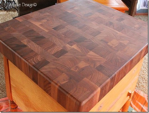Butcher block giveaway CeCe Caldwell's chalk clay paint Shizzle Design Grand Rapids Michigan Holland how to painted furniture colors ideas