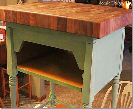 Butcher block giveaway CeCe Caldwell's chalk clay paint Shizzle Design Grand Rapids Michigan Holland how to