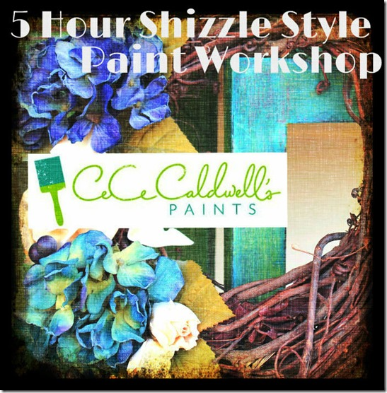 Shizzle Design Paint Your Furniture Workshop CeCe Caldwells Paint Clay Chalk Paint  Ideas Colors DIY How to