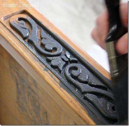 Vermont Slate and Seattle Mist Antique solid oak table CeCe Caldwell's chalk clay paint MSU Shizzle Style Paint Workshop