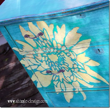 Painted furniture top hand painted dresser by Shizzle Design using American Paint Company Chalk and Clay paints Surfboard, Beach Glass ideas