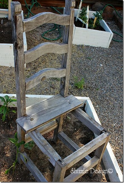 rustic garden chair