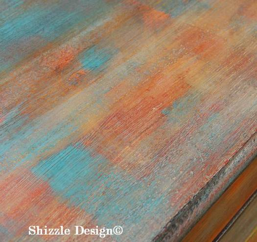 Patchwork #painteddresser Shizzle Design Grand Rapids, Michigan chalk clay paints #paintedfurniture best colors ideas 2