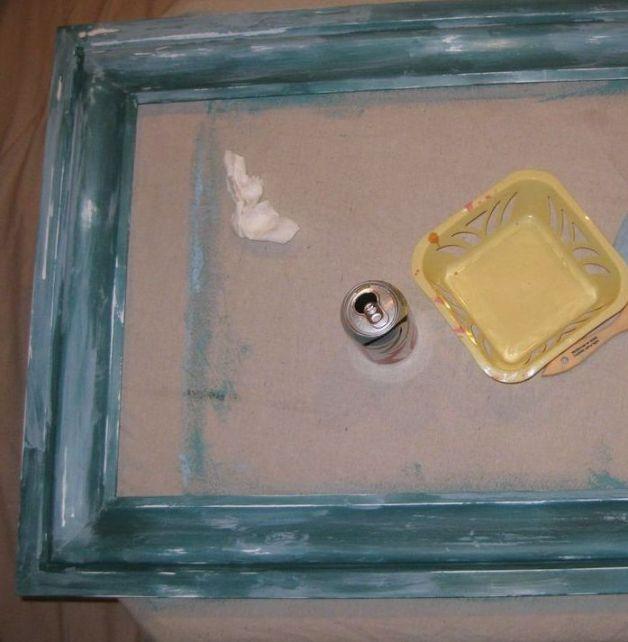 july 9 layering paint bulletin board frame