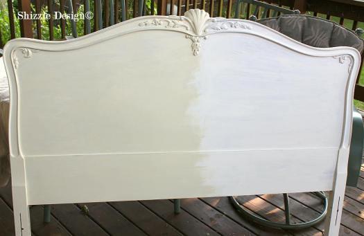 Shizzle Design Michigan #americanpaintcompany white Home Plate Dollar Bill Rushmore Heaven's Light chalk clay paint bedroom headboard 3