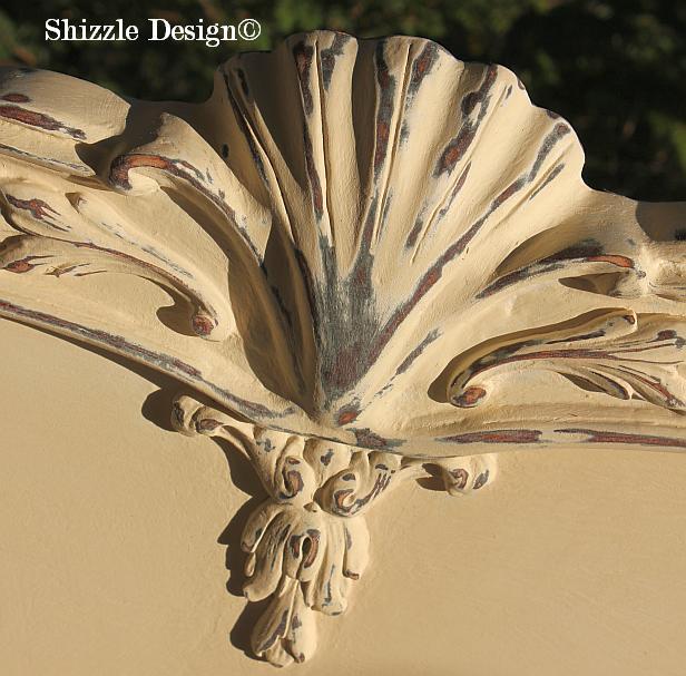 Shizzle Design Michigan #americanpaintcompany white Home Plate Dollar Bill Rushmore Heaven's Light chalk clay paint headboard details 1