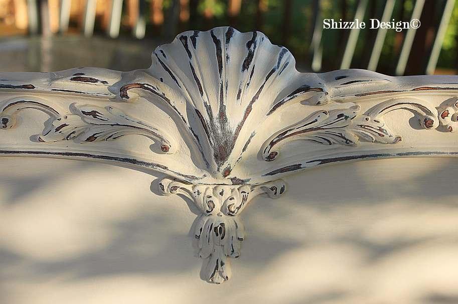 Shizzle Design Michigan #americanpaintcompany white Home Plate Dollar Bill Rushmore Heaven's Light chalk clay paint headboard details 2
