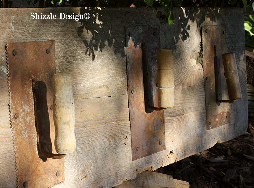 Shizzle Design re-purposed junk reclaimed barn wood hooks antique vintage hooks 4