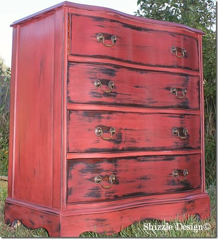 Sedona red with Virginia chestnut glaze, wax, Shizzle Design CeCe Caldwell's ideas colors Michigan for sale painted furniture Michigan 2