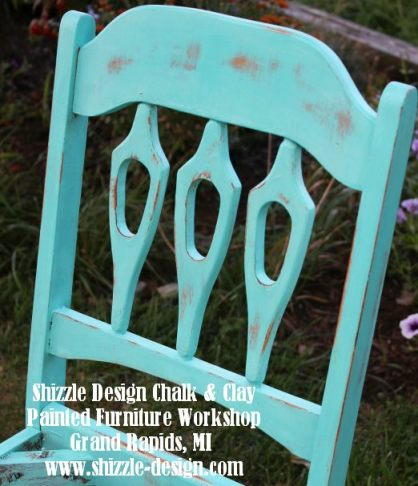September 14 Shizzle Style Furniture Paint workshops Grand Rapids michigan how to diy chalk clay paint Santa Fe Turquoise 16