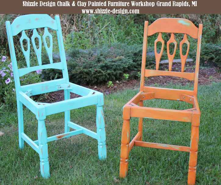 September 14 Shizzle Style Furniture Paint workshops byron center michigan how to diy CeCe Caldwell's Mesa Sunset over Santa Fe Turquoise chalk clay paint 111