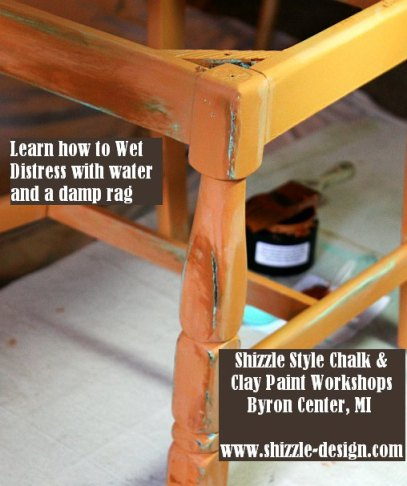 September 14 Shizzle Style Furniture Paint workshops byron center michigan how to diy CeCe Caldwell's Mesa Sunset over Santa Fe Turquoise chalk clay paint