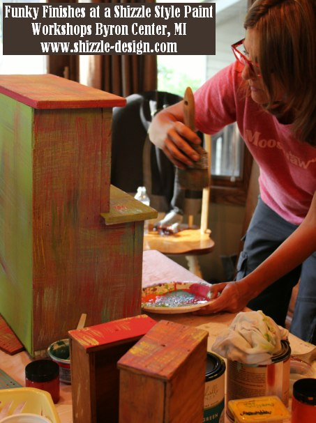 September 14 Shizzle Style Furniture Paint workshops byron center michigan how to diy funky finishes chalk clay paint 7