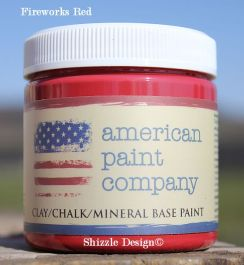 American Paint Company's Sample Pots Shizzle Design Fireworks Red www.shizzle-design.com Caledonia, Holland, Hudsonville, Michigan