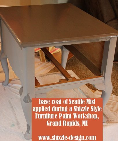 October Workshops #shizzledesign furniture paint workshops chalk clay best Grand Rapids MI how to table #cececaldwells #americanpaintcompany 1st coat Seattle Mist
