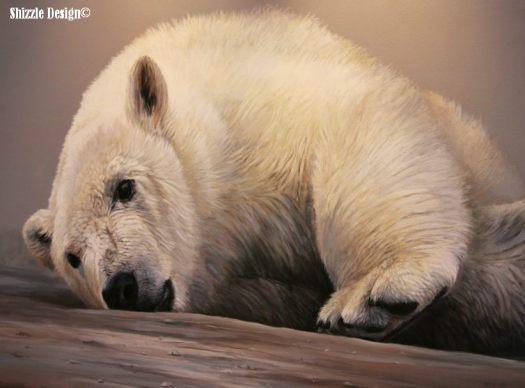 polar bear paintings at Gerald R. Ford Museum #artprize 2013 art prize shizzle design Grand Rapids Michigan 3