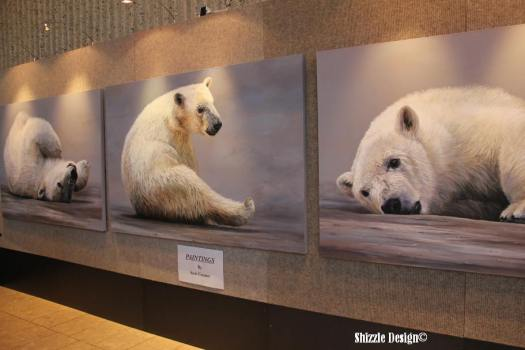 polar bear paintings at Gerald R. Ford Museum #artprize 2013 art prize shizzle design Grand Rapids Michigan 4 - Copy