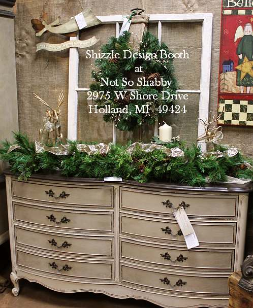 Shizzle Design Painted Furniture 2018 Chicago Drive Jenison Michigan 49428 Christmas Chippy Old Window Wreath