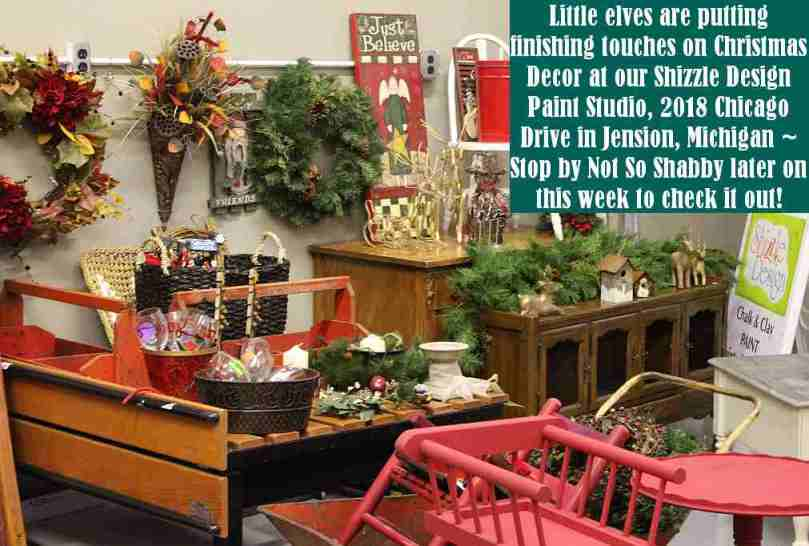Shizzle Design Painted Furniture 2018 Chicago Drive Jenison Michigan 49428 Christmas Decor 1