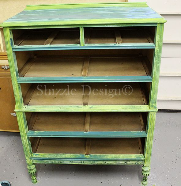 Fireworks Red Shizzle Design Paint Studio American Paint Company highboy blue green red chalk clay dresser best ideas tips layering 4