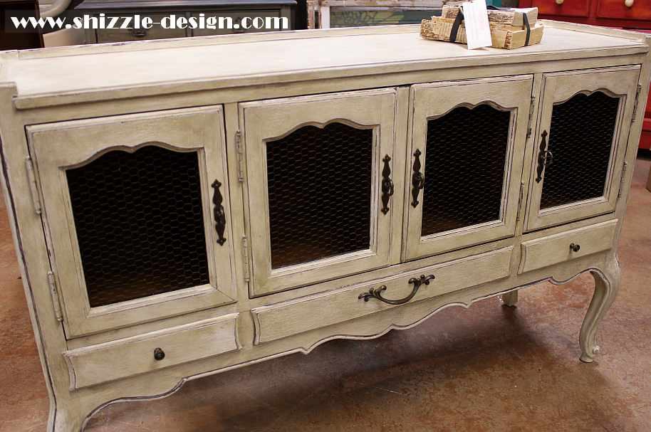 Shizzle design french provincial buffet hand painted for French provincial paint colors