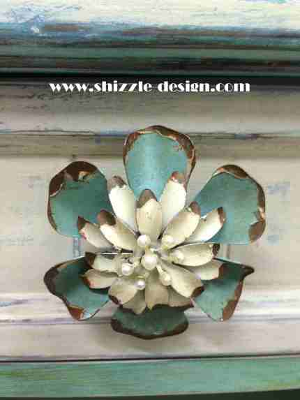 Shizzle Design chalk and clay painted furniture coffee table turquoise American Paint Company Women's Expo ideas color inspiration