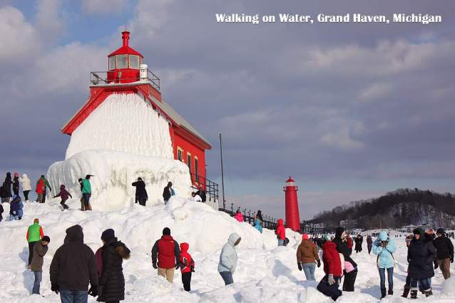 1 Grand Haven Michigan State Park Lake Michigan Ice February 2014  9