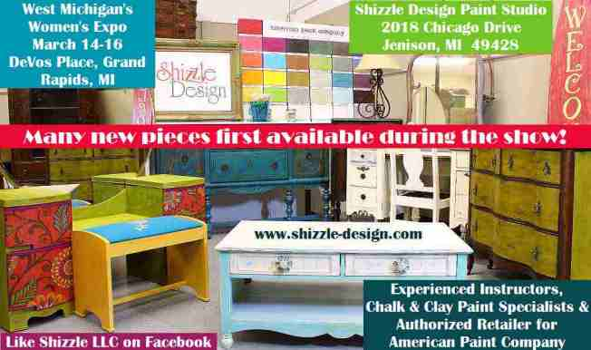 shizzle design paint studio 2018 Chicago Drive Jenison MI  American Paint Company CeCe Caldwell's Paints retailer buy chalk clay instructor workshops paint retailer 2