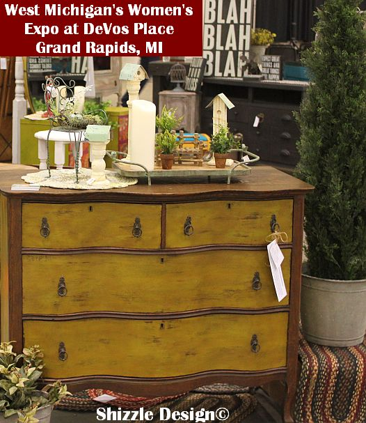 2014 West Michigan's Women's Expo Shizzle Design painted furniture American Paint company chalk clay mineral Paints 2018 Chicago Dr Jenison, MI  49428 DeVos waistcoat dresser