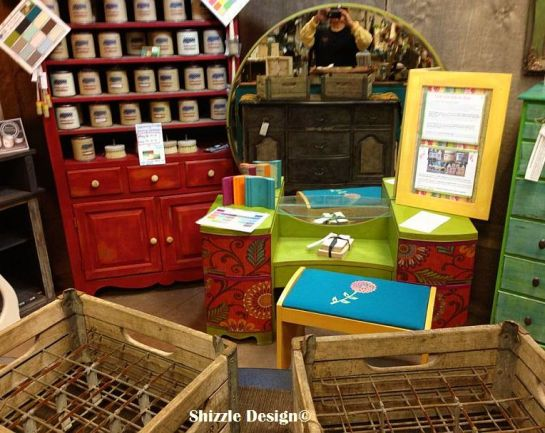 Shizzle Design booth 9 hand painted furniture american paint company chalk clay paint Michigan retailer best 2