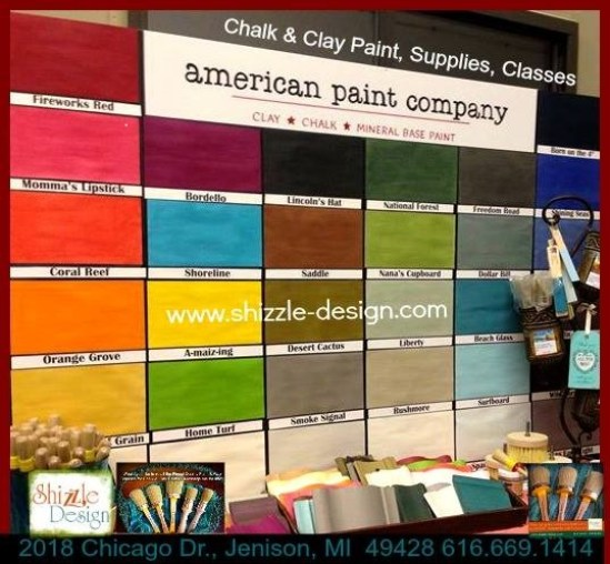a Shizzle Design American Paint Company giant color chart chalk clay paint supplies 2