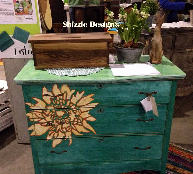 turquoise chalk clay painted dresser shizzle design