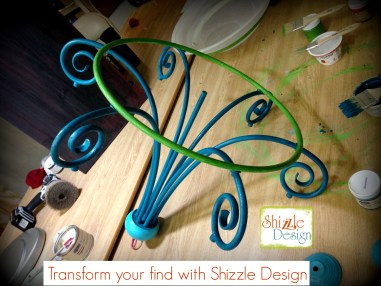 Learn how layer Chalk Paint colors DIY ideas inspiration Shizzle Design trash to treasure chandelier planter solar grand rapids michigan