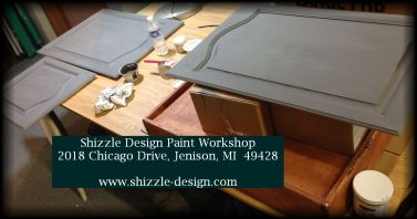 Learn how to layer chalk clay paint colors DIY ideas inspiration Shizzle Design painted furniture makeovers workshops best class Jenison Michigan American Paint Company 10