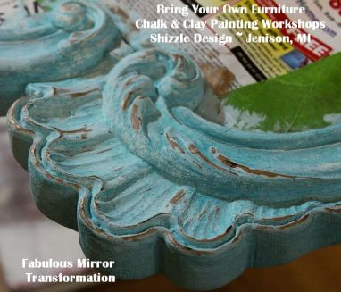 Learn how to layer chalk clay paint colors Shizzle Design painted furniture makeovers workshops best class Jenison Michigan American Paint Company experienced ideas