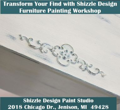 Learn how to layer colors chalk clay paints Shizzle Style furniture paint workshop class Jenison Michigan American Paint Company Paints best experienced ideas 12