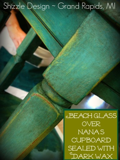 August chalk paint furniture Shizzle Design workshops best class Michigan American Paint Company Beach Glass teal Dark Wax