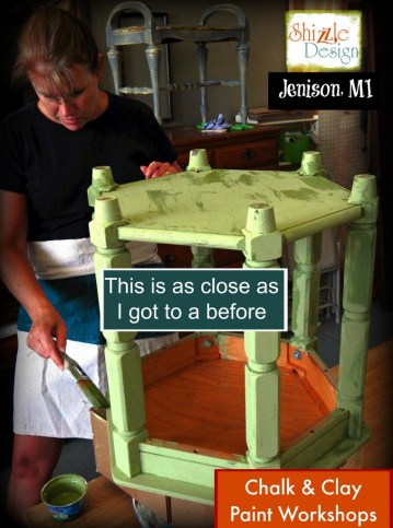 Chalk paint ideas Shizzle Design painted furniture workshops best class Jenison Michigan American Paint Company Nana Cupboard 1