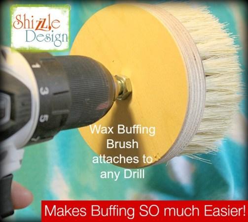 drill attachment wax buffing brush shizzle design