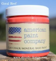 Coral Reef by American Paint Company sample pot now available to Shizzle Design painted furniture Michigan online sales orange ideas chalk clay paint