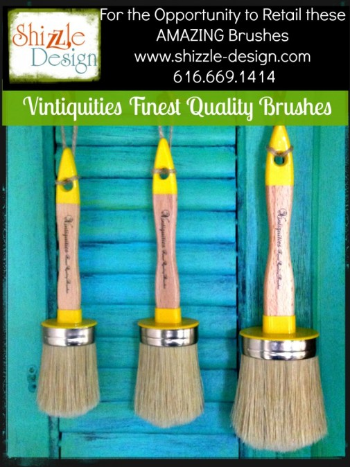 Vintiquities finest paint and wax brushes U.S. Distributor retailer opportunities Shizzle Design