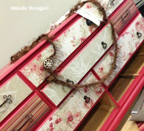 fabric covered dresser