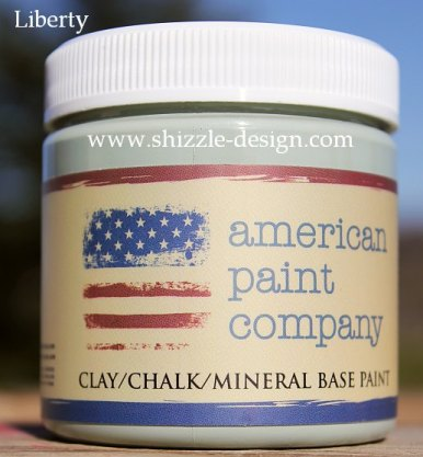 Liberty Sample Size Paint Pot by American Paint Company Paints online Shizzle Shop www.shizzle-design.com chalk clay paints pale green