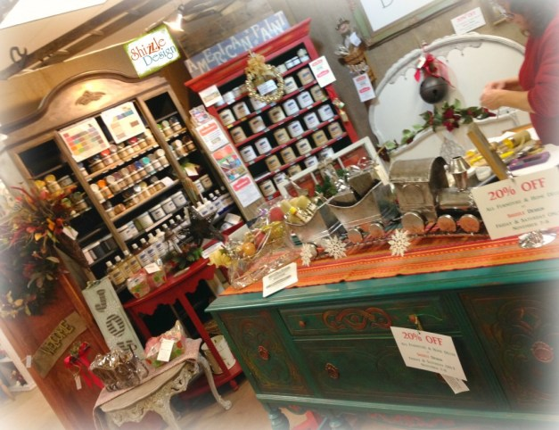 Christmas 2014 American Paint Company Retailer Shizzle Design Chalk paint supplies painted furniture MI booth